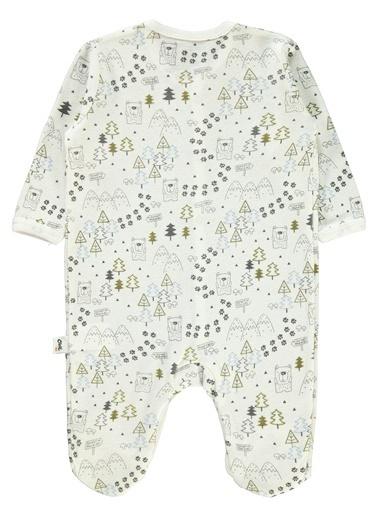 Civil Baby  Erkek Bebek Patikli Tulum 3-6 Ay Ekru  Erkek Bebek Patikli Tulum 3-6 Ay Ekru Ekru